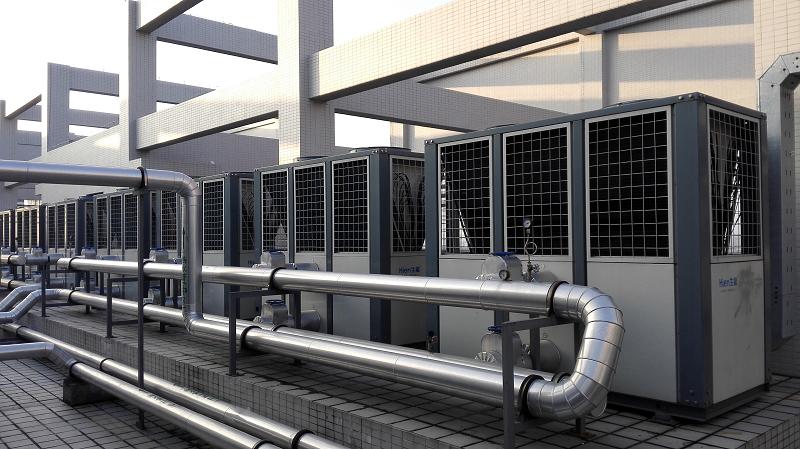 工厂车间空气能热水器