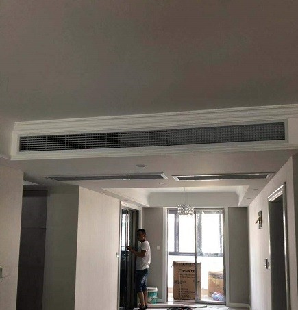 万景苑三菱电机家用中央空调安装工程